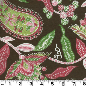 "Addison Chocolate PRI054 by Roth and Tompkins Fabric Roth 100% Cotton India - H: 27"", V: 17"" 54"" - Fabric Carolina - Roth and Tompkins"