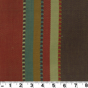 "Apache Brick D2451 by Roth and Tompkins Fabric Roth 100% Cotton India - H: 27"", V: N/A 54"" - Fabric Carolina - Roth and Tompkins"