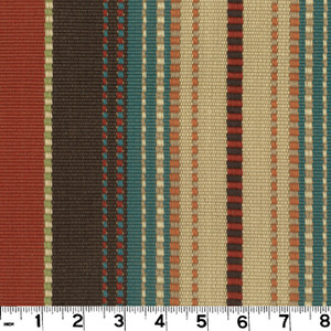 """Appalachian Terra Cotta D3138 by Roth and Tompkins Fabric Roth 100% Cotton India - H: 13.5"""", V: n/a 54"""" - Fabric Carolina - Roth and Tompkins"""