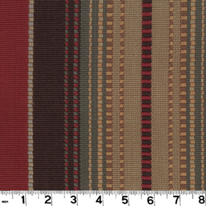 "Appalachian Brick D3140 by Roth and Tompkins Fabric Roth 100% Cotton India - H: 13.5"", V: n/a 54"" - Fabric Carolina - Roth and Tompkins"