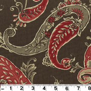 "Beacon Hill Coffee PRI058 by Roth and Tompkins Fabric Roth 100% Cotton India - H: 13.5"", V: 12.5"" 55"" - Fabric Carolina - Roth and Tompkins"