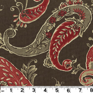 """Beacon Hill Coffee PRI058 by Roth and Tompkins Fabric Roth 100% Cotton India - H: 13.5"""", V: 12.5"""" 55"""" - Fabric Carolina - Roth and Tompkins"""
