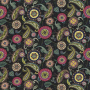 Abberley Passion Black by Kasmir Fabric 1435 100% Cotton INDONESIA 15,000 Wyzenbeek Double Rubs H: 54 inches, V:27 inches 54 - 55 - Fabric Carolina - Kasmir