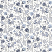 Afton Garden Pacific by Kasmir Fabric 1427 100% Cotton TURKEY Not Tested H: 27 2/8 inches, V:25 2/8 inches 55 - Fabric Carolina - Kasmir