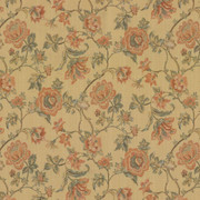 Amberlyn Floral Sunshine by Kasmir Fabric 8000 55% Polyester 45% Rayon CHINA 30,000 Wyzenbeek Double Rubs H: 28 4/8 inches, V:21 inches 54 - 56 - Fabric Carolina - Kasmir