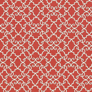 Bouley Tomato by Kasmir Fabric 5064 100% Cotton TURKMENISTAN 15,000 Wyzenbeek Double Rubs H: 13 4/8 inches, V:13 4/8 inches 54 - 55 - Fabric Carolina - Kasmir