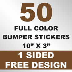 50 Bumper Stickers 10x3