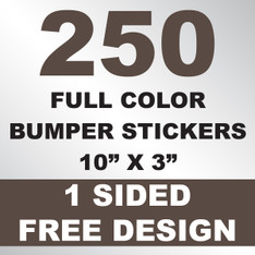 250 Bumper Stickers 10x3