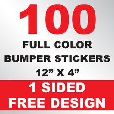 100 Bumper Stickers 12x4