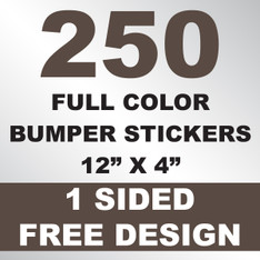 250 Bumper Stickers 12x4