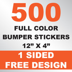 500 Bumper Stickers 12x4