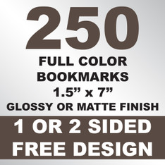 250 Bookmarks 1.5x7