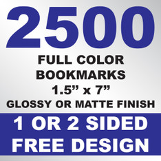 2500 Bookmarks 1.5x7
