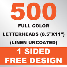 500 Linen Uncoated Letterheads 8.5x11
