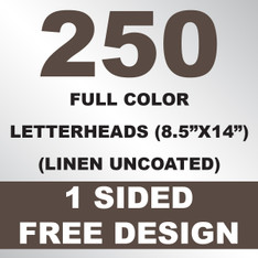 250 Linen Uncoated Letterheads 8.5x14