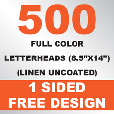 500 Linen Uncoated Letterheads 8.5x14