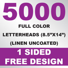 5000 Linen Uncoated Letterheads 8.5x14