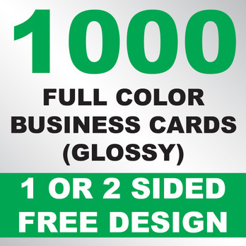 1000 business cards glossy kustomprintz image 1 colourmoves