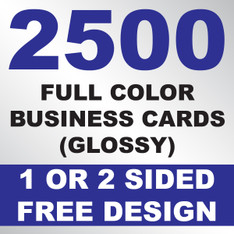 2500 Business Cards (Glossy)