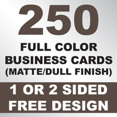 250 Business Cards (Matte)