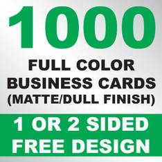 1000 Business Cards (Matte)