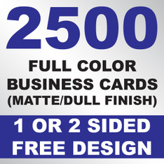 2500 Business Cards (Matte)