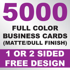 5000 Business Cards (Matte)