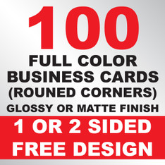 100 Business Cards (Rounded Corners)