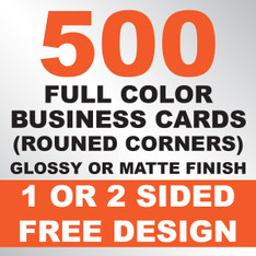 500 Business Cards (Rounded Corners)