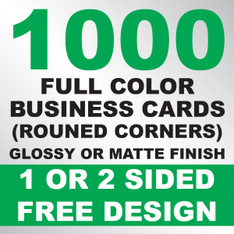 1000 Business Cards (Rounded Corners)