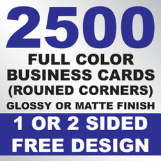 2500 Business Cards (Rounded Corners)