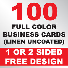 100 Linen Uncoated Business Cards