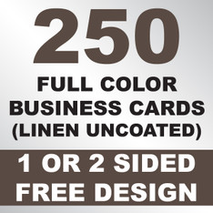 250 Linen Uncoated Business Cards