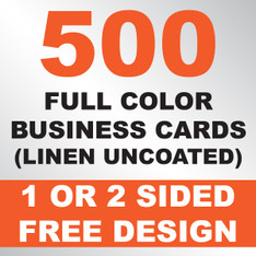 500 Linen Uncoated Business Cards