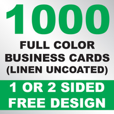 1000 Linen Uncoated Business Cards
