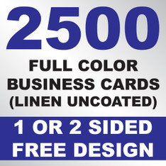 2500 Linen Uncoated Business Cards