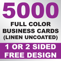 5000 Linen Uncoated Business Cards