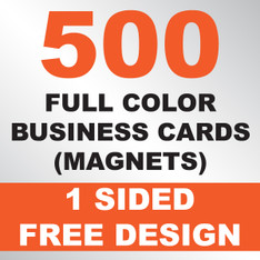500 Business Cards (Magnets)