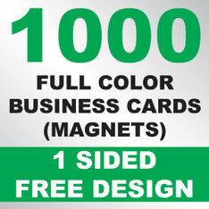1000 Business Cards (Magnets)
