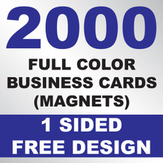 2000 Business Cards (Magnets)