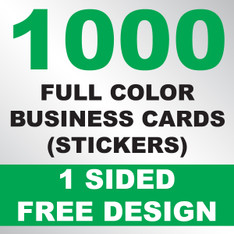 1000 Business Cards (Stickers)