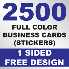 2500 Business Cards (Stickers)