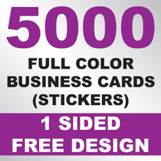 5000 Business Cards (Stickers)