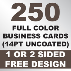 250 Business Cards (14PT Uncoated)