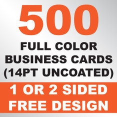 500 Business Cards (14PT Uncoated)