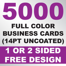 5000 Business Cards (14PT Uncoated)