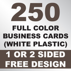 250 Business Cards (White Plastic)