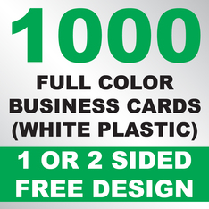 1000 Business Cards (White Plastic)