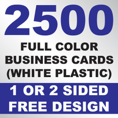 2500 Business Cards (White Plastic)