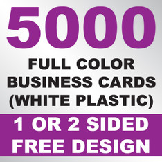 5000 Business Cards (White Plastic)
